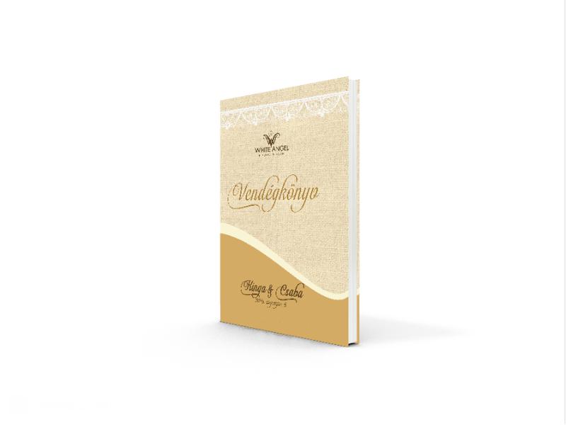 627654ab30 Esküvői vendégkönyv zsákvászon csipke - White Angel Esküvői Szalon