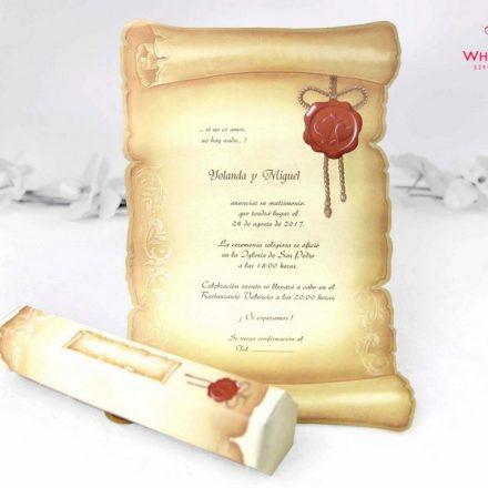 Pergamen papír esküvői meghívó - White Angel Esküvői Szalon