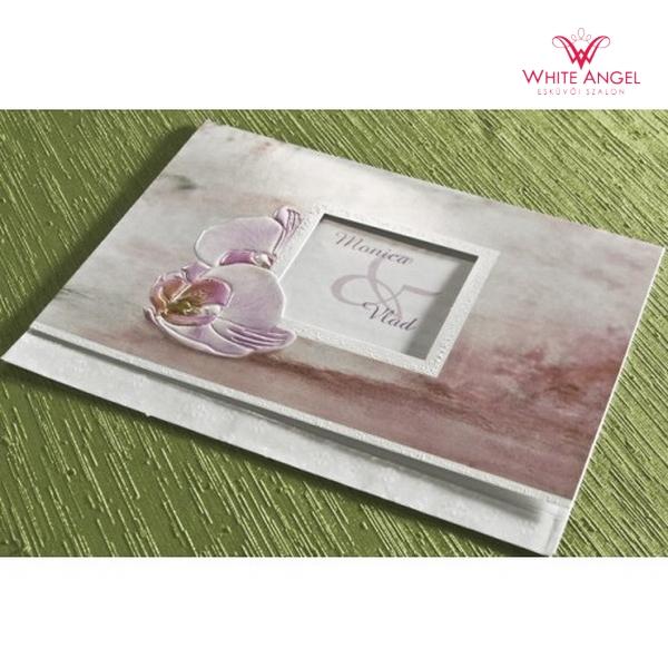 Orchidea esküvői meghívó - White Angel Esküvői Szalon