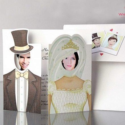 Herecegnő esküvői meghívó - White Angel Esküvői Szalon
