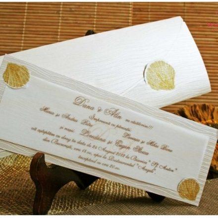 Tengeri kagylós esküvői meghívó - White Angel Esküvői Szalon