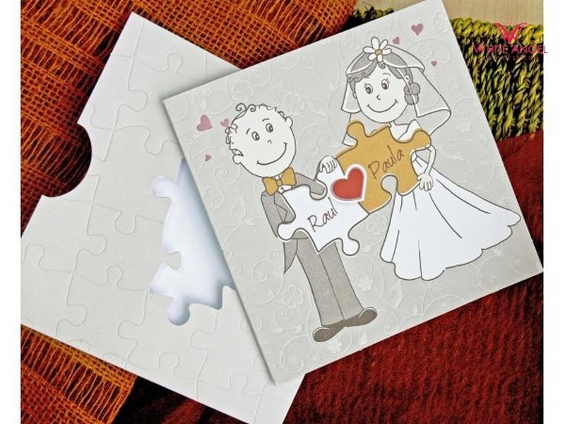 6290cddffe Szíves puzzle esküvői meghívó - White Angel Esküvői Szalon