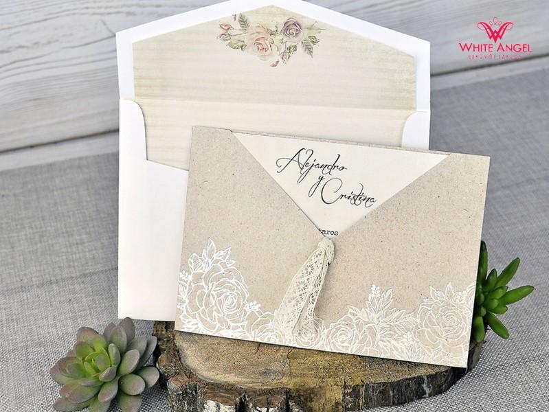 b9607e7ade Rózsa mintás esküvői meghívó - White Angel Esküvői Szalon