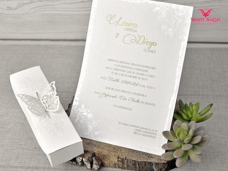 9622cfc316 Dobozos pillangó esküvői meghívó - White Angel Esküvői Szalon