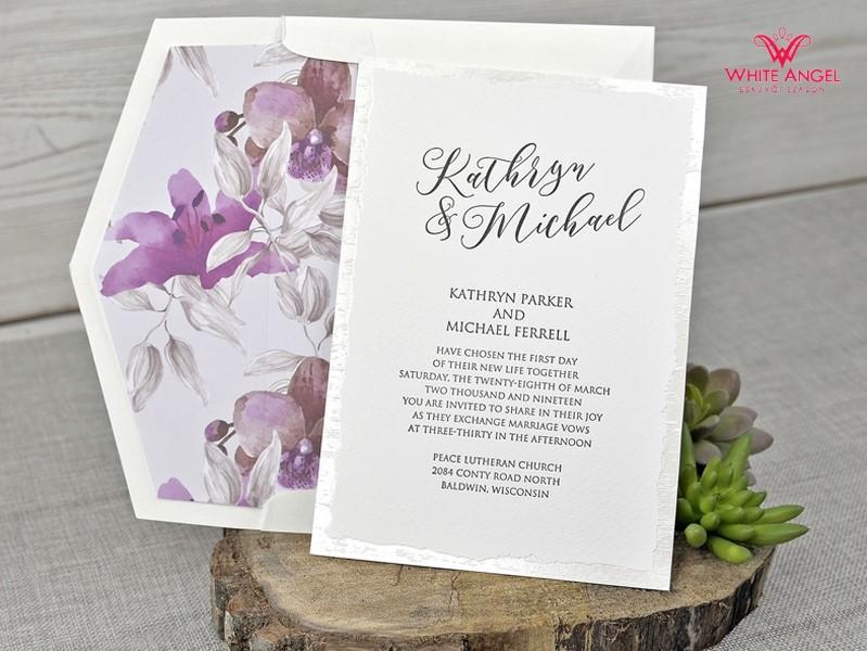 7eb187c5e7 Esküvői meghívó választható borítékkal 5 - White Angel Esküvői Szalon