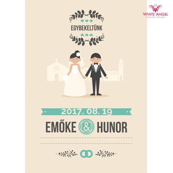 Esküvői italcímke WA28
