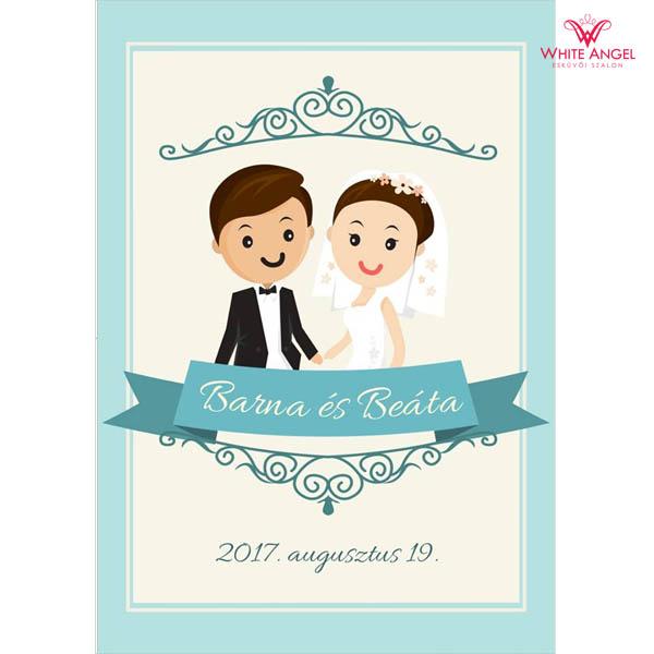 Esküvői italcímke WA30