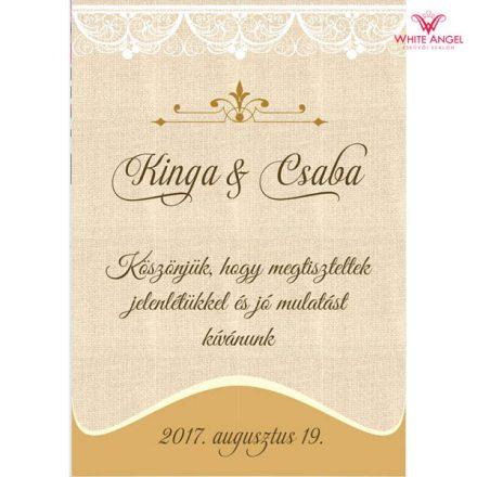 Esküvői italcímke WA11