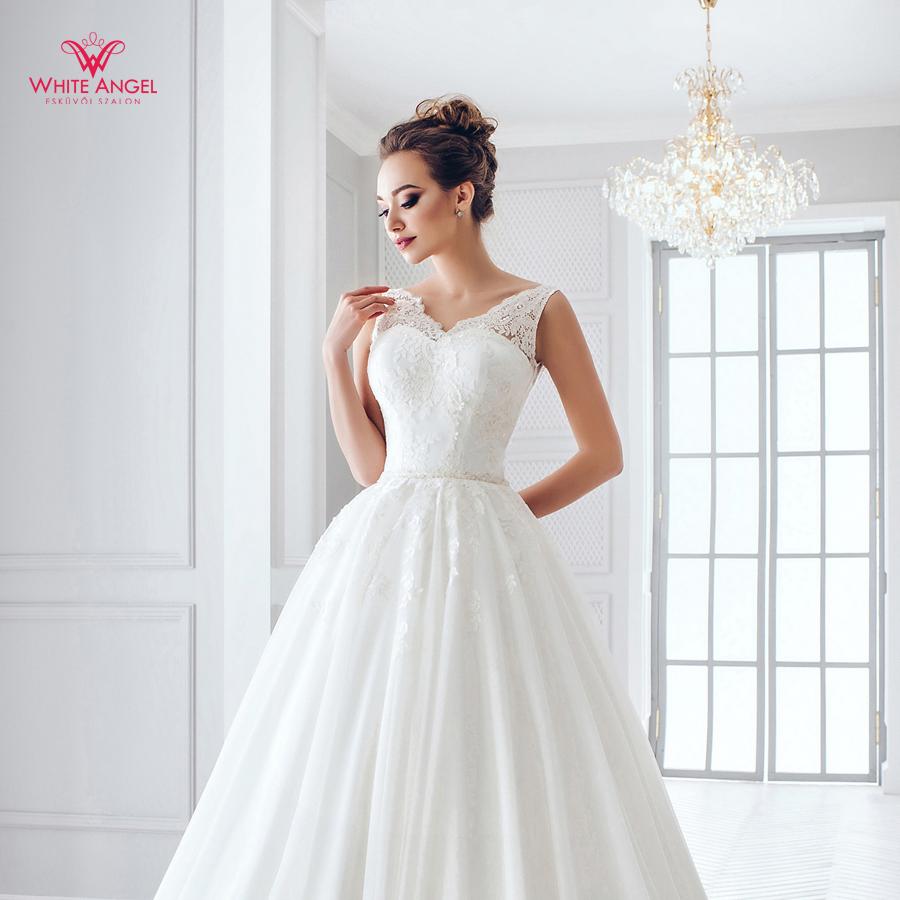Menyasszonyi ruha Mary White 879 - White Angel Esküvői Szalon