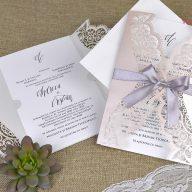 9bdcbc1b1f Csipkés lézervágott esküvői meghívó - 39381 - White Angel Esküvői Szalon