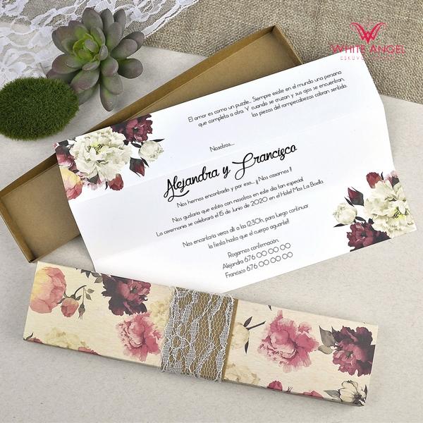 37d52bbb39 Virág dobozos esküvői meghívó - White Angel Esküvői Szalon
