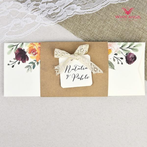 Csipke masnis esküvői meghívó