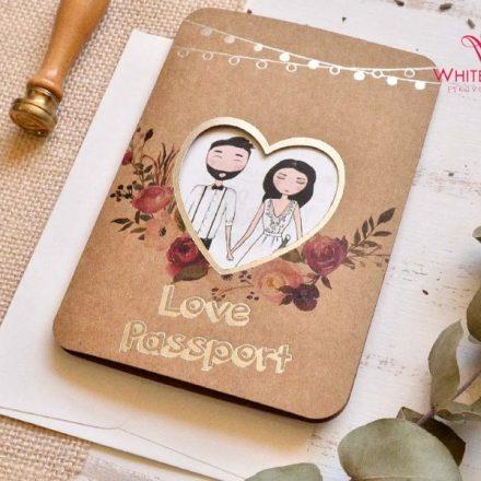 Szerelmes útlevél esküvői meghívó