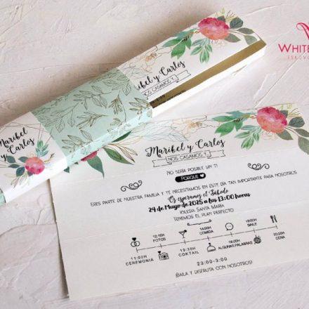 Mentazöld dobozos esküvői meghívó